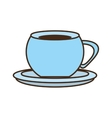 cup coffee tea beverage hot dish vector image