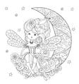 cute fairy girl in flowers vector image