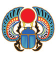 egyptian scarab beetle vector image