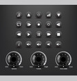 elements of the media player vector image