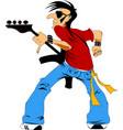 guitar player vector image