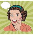 happy woman commercial retro clipart vector image
