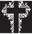 religious cross background vector image