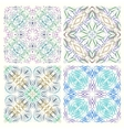 Set of retro seamless patterns of graphic elements vector image