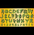 street graffiti style font alphabet vector image