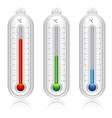Temperature indicators vector image vector image