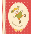 Happy kid greeting card vector