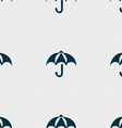 Umbrella icon sign Seamless pattern with geometric vector image
