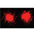 blood splats vector image vector image