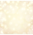 Golden lights blurred background with bokeh effect vector image vector image
