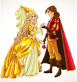 Prince and Princess in love vector image vector image