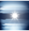 Abstract blue background with sun vector image
