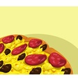 Pizza with sausage banner vector image