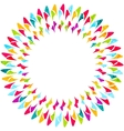 Abstract colorful round background vector image