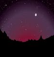 desert sunset skyline vector image vector image