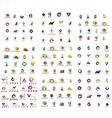 Mega set of geomeric company logos Corporate vector image