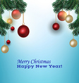 Christmas picture with fir branches vector image