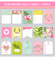 Scrapbook Tags Cards and Notes - for Birthday vector image