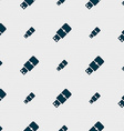USB flash icon sign Seamless pattern with vector image