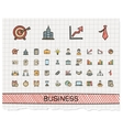 Business hand drawing line icons doodle vector image
