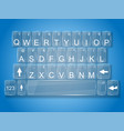 keyboard glass whit shadow vector image