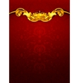 Luxurious pattern red vector image