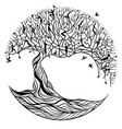 tree of life on a white background vector image