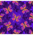 Seamless spring dark violet pattern vector image