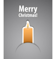 Merry christmas background with candle vector image