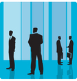 Businessmen in large hall vector image vector image