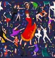 seamless pattern dancing people dancer bachata vector image