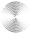 abstract dotted circle curved design vector image