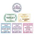 Leeward passport stamps vector image