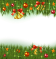 Christmas Fir Background vector image vector image