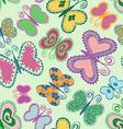 Seamless patter of butterflies vector image