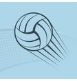 Volleyball play background vector image
