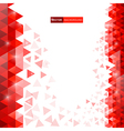 bg red triangles vector image