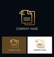 document paper write gold logo vector image