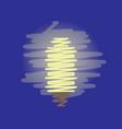 energy saving light bulb flat design vector image