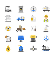 Oil and Industy Flat Color Icons vector image
