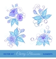 Set of cherry flowers vector image