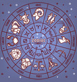 zodiac horoscope signs with dates icons on vector image