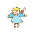 little flying angel vector image