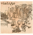 Vintage Wine Cellar An hand drawn picture Line art vector image