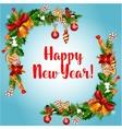 New Year holiday garland frame vector image
