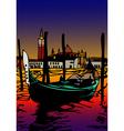 Gondola a San Marco vector image