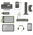 Stylish Simple Computer Devices vector image