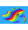 Rainbow girl with lollipop vector image vector image