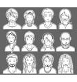 unrecognizable people faces vector image