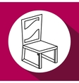 Wood Chair design seat icon furniture concept vector image